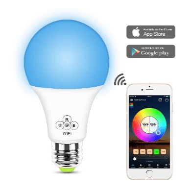 SS WFB RGBW 6.5W A19 A60 A70 smart led bulb wifi color changing