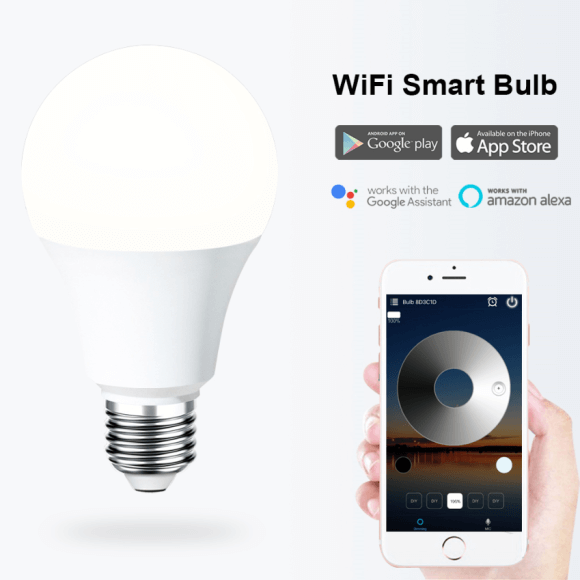 SS WFB WW 6.5W smart A19 A160 led bulb wifi color changing